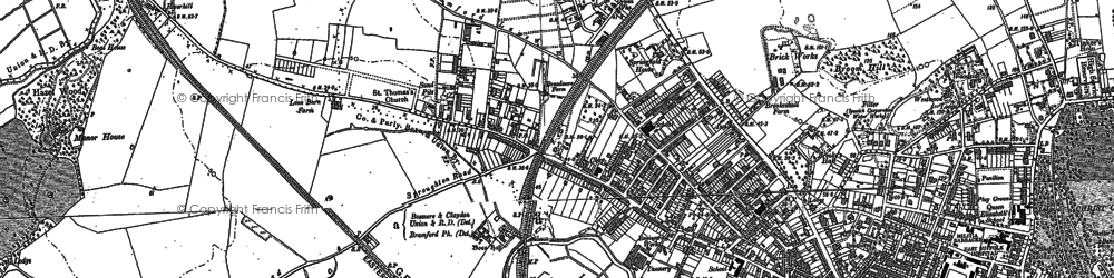 Old map of Westbourne in 1881