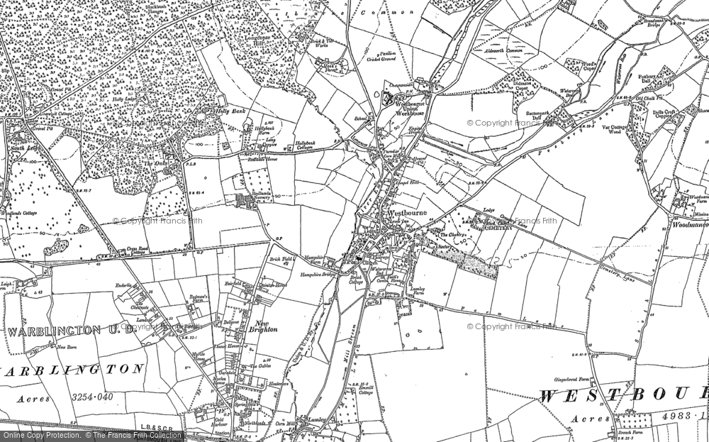 Map of Westbourne, 1909 - 1910