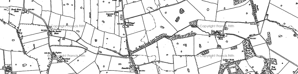 Old map of Kingswood in 1891