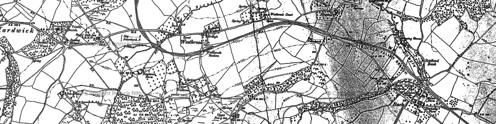Old map of Westbrook in 1903