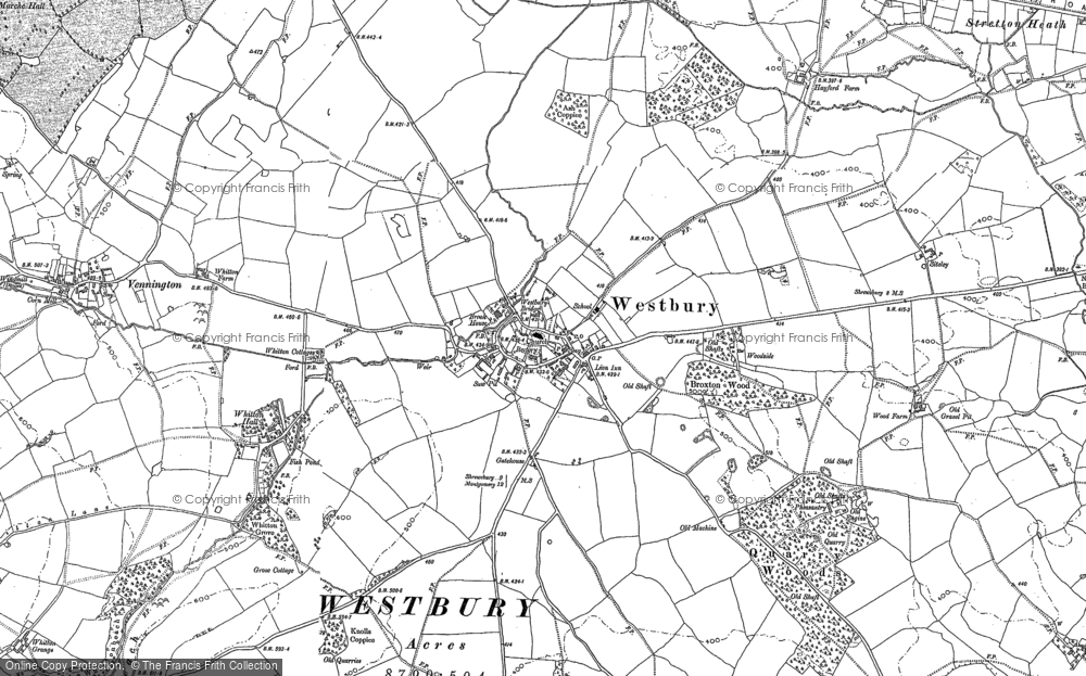 Old Map of Westbury, 1881 - 1901 in 1881