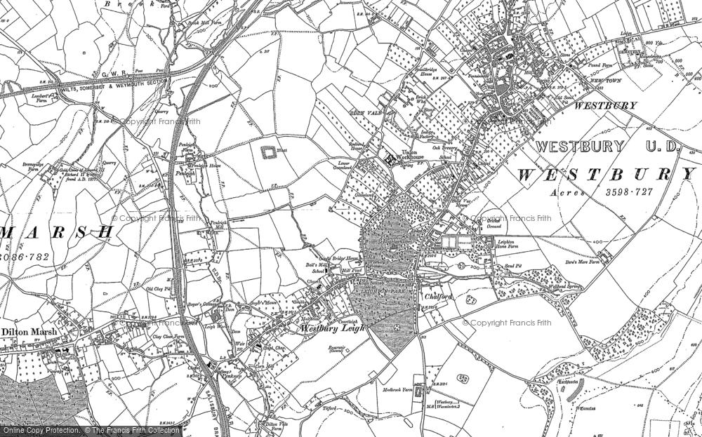 Map of Westbury, 1899 - 1922