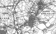 Old Map of Westbury Leigh, 1922