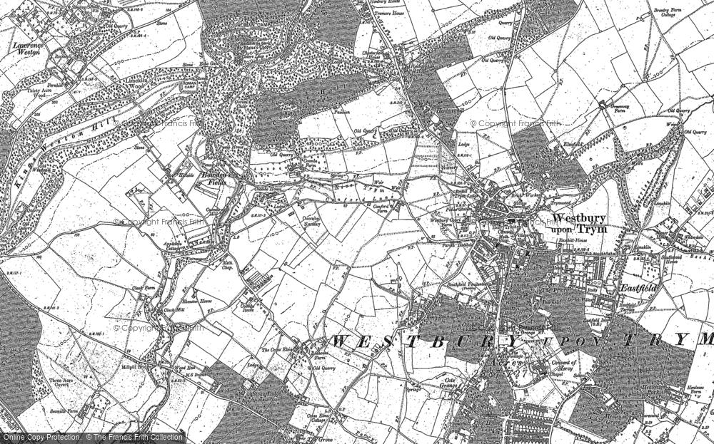 Map of Westbury on Trym, 1881 - 1901