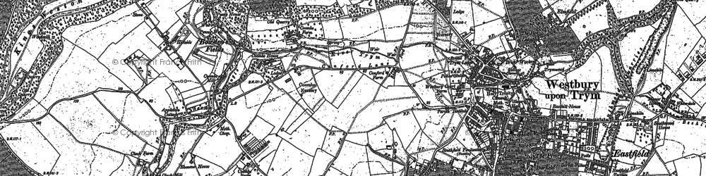 Old map of Westbury on Trym in 1881