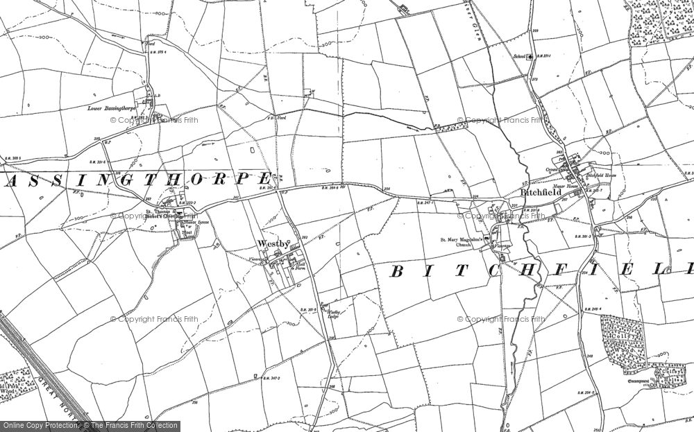 Old Map of Westby, 1887 in 1887