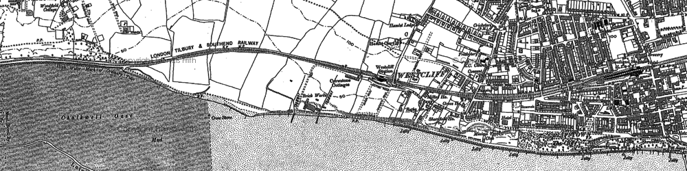 Old map of Westcliff-on-Sea in 1895