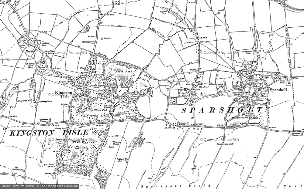 Map of Westcot, 1898 - 1910
