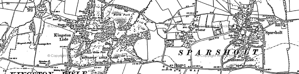Old map of Westcot in 1898