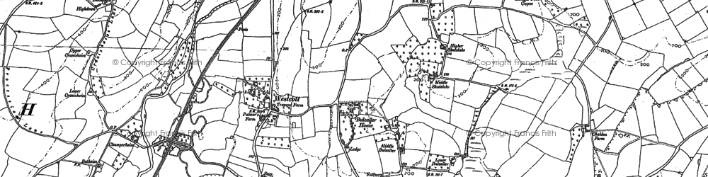 Old map of Westcott in 1887