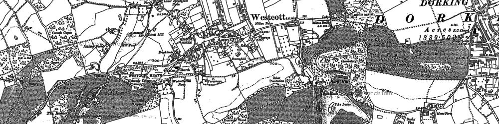 Old map of Westcott in 1895