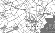Old Map of Westcott, 1898
