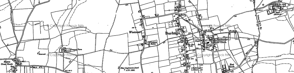Old map of Westcourt in 1899