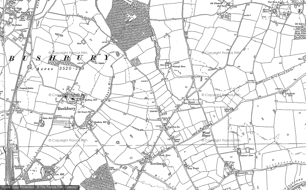 Old Map of Westcroft, 1883 - 1885 in 1883