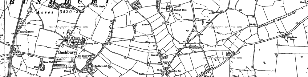 Old map of Westcroft in 1883