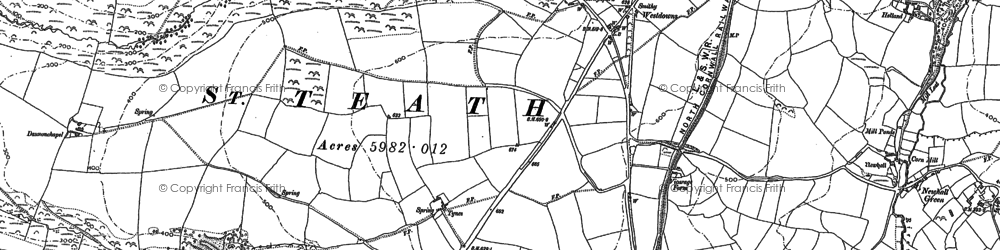 Old map of Westdowns in 1905