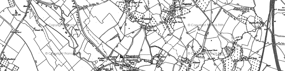 Old map of Chipmans Platt in 1881