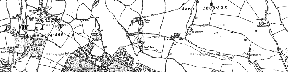 Old map of Westend in 1897