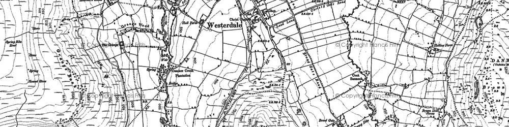 Old map of Westerdale in 1892