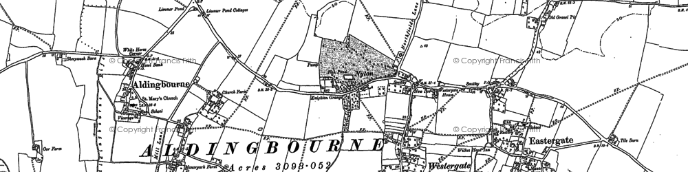 Old map of Westergate in 1847