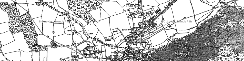 Old map of Westerham Wood in 1907