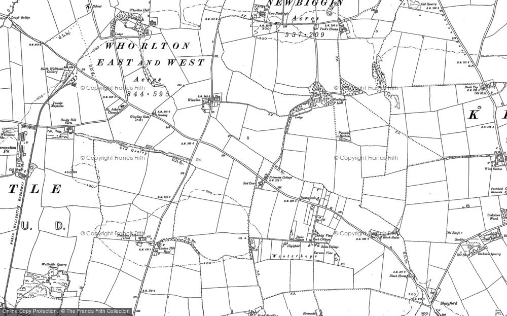 Map of Westerhope, 1894 - 1895