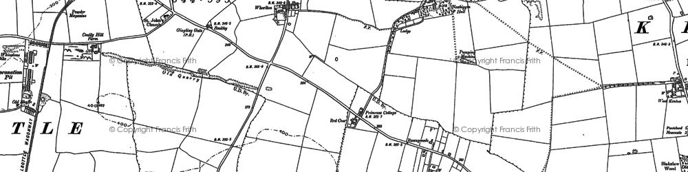 Old map of Westerhope in 1894