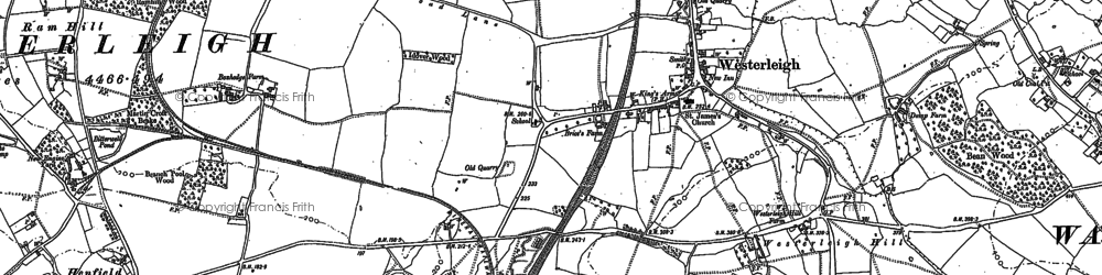 Old map of Westerleigh in 1881