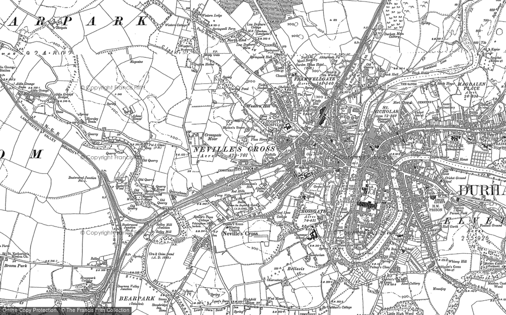 Old Map of Historic Map covering Aden Cott in 1895
