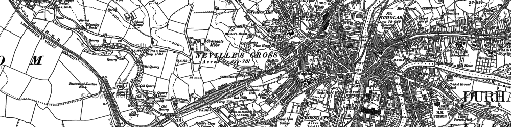 Old map of Western Hill in 1895