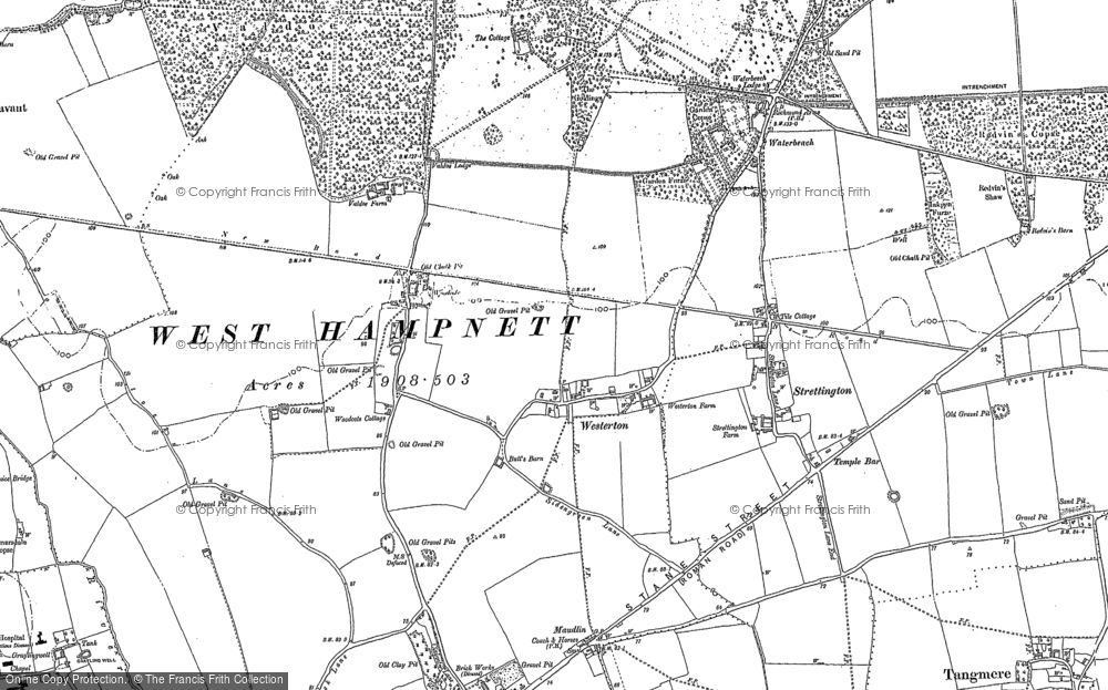 Old Map of Westerton, 1896 in 1896