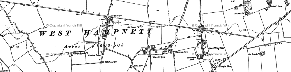 Old map of Westerton in 1896