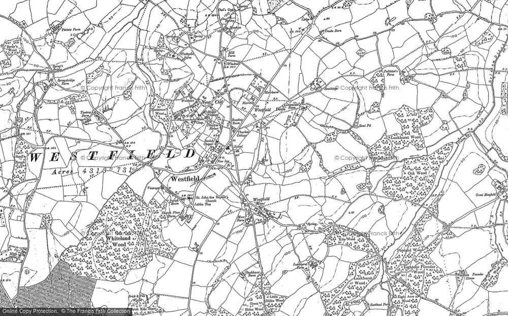 Map of Westfield, 1872 - 1908