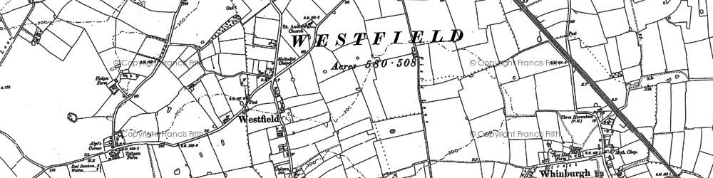 Old map of Westfield in 1882