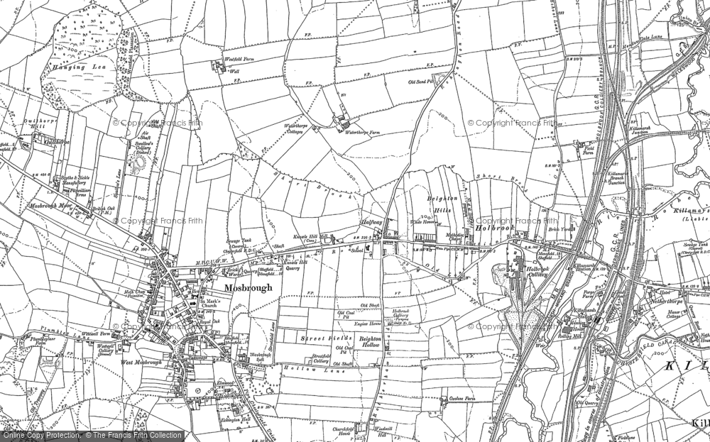 Old Map of Westfield, 1901 - 1902 in 1901