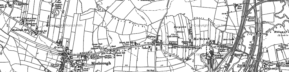 Old map of Westfield in 1901