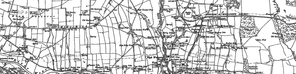 Old map of White Hall in 1895