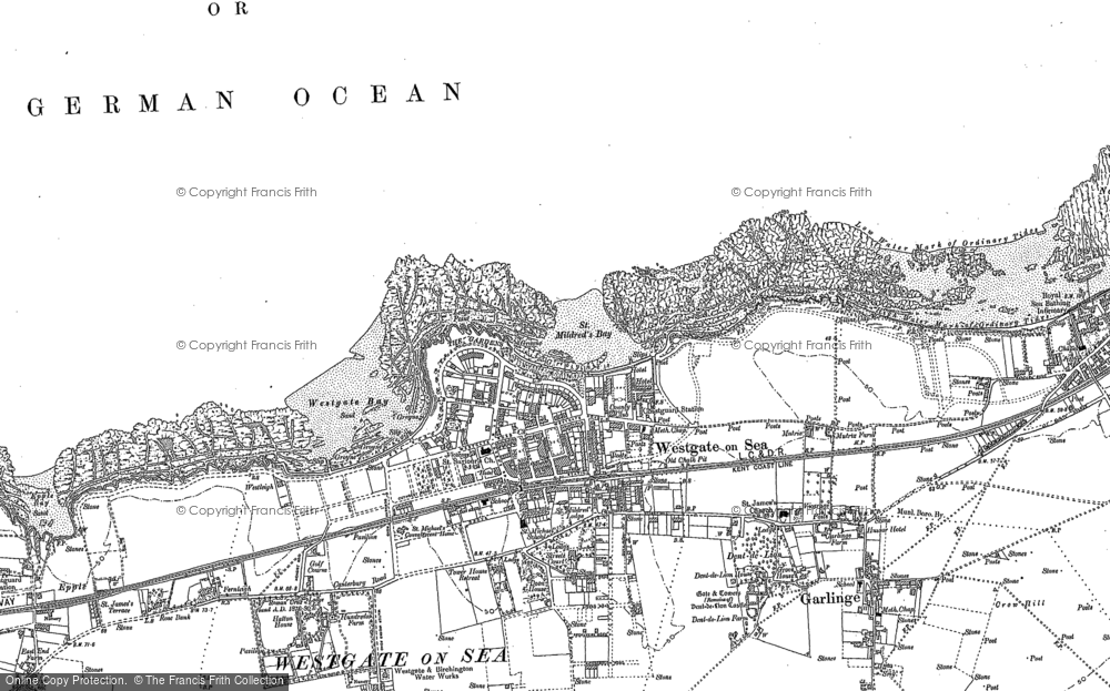 Map of Westgate on Sea, 1905