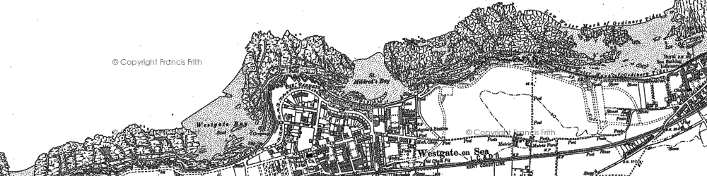 Old map of Westgate on Sea in 1905