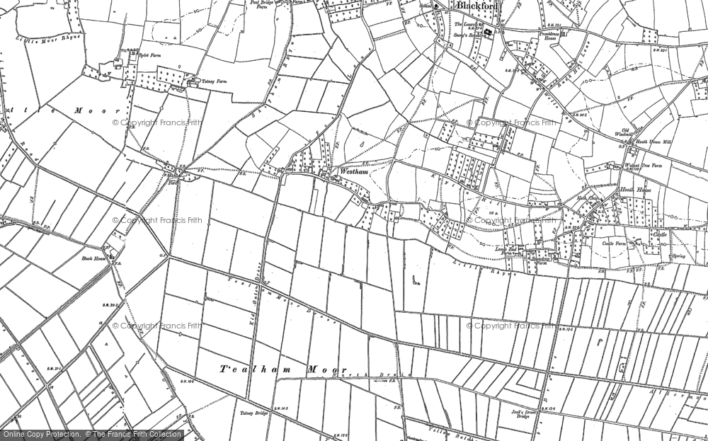 Old Map of Westham, 1884 in 1884