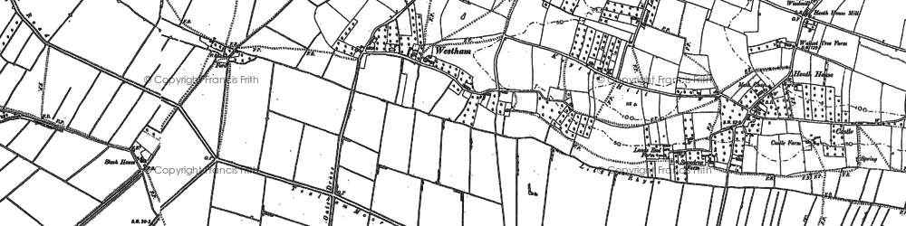 Old map of Westham in 1884