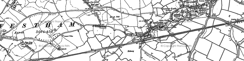 Old map of Westham in 1908