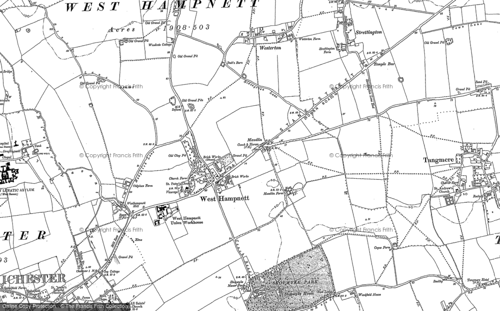 Old Map of Westhampnett, 1896 in 1896
