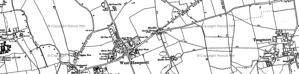Old map of Westhampnett in 1896