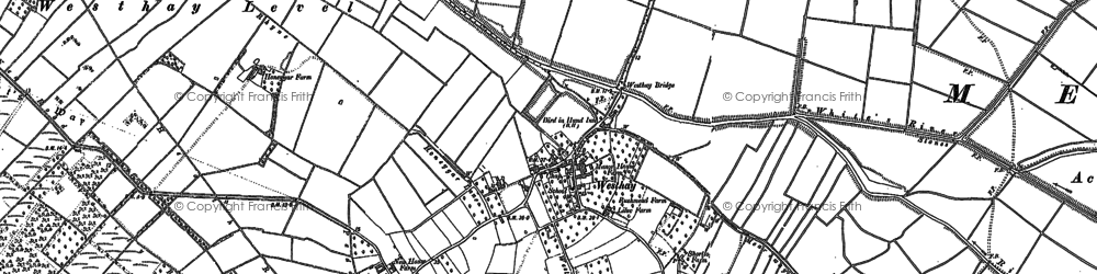 Old map of Westhay Level in 1884