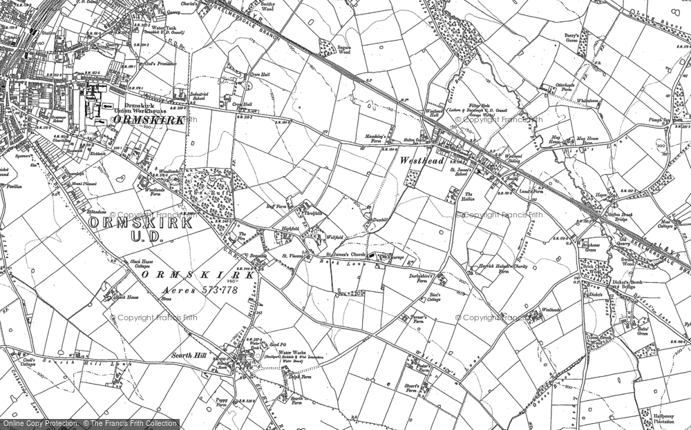 Old Map of Westhead, 1891 in 1891