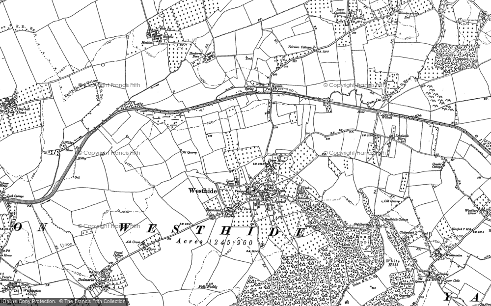 Old Map of Westhide, 1885 - 1886 in 1885