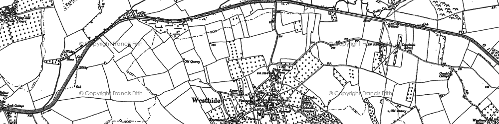 Old map of Westhide in 1885