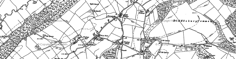 Old map of Westhope in 1883