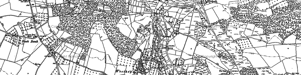 Old map of Westhope in 1886